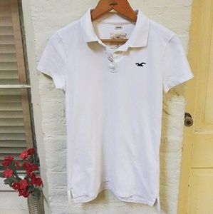 White Hollister Polo